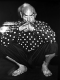 Yul Brynner Posed in polka dot With Black background Photo by  Movie Star News