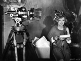 Marion Davies posed Beside A Camera in Black and White Photo by  Movie Star News