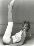 Heather Locklear Lying on a Floor win Printed Top Photo by  Movie Star News