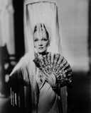 Marlene Dietrich Posed in Classic White Dres with Veil Photo by  Movie Star News