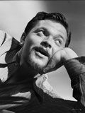Orson Welles Leaning Head on Hand in Stripes Polo Photo by E Bachrach