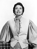 Cyd Charisse wearing White Vest with Broad Sleeves Photo by  Movie Star News