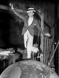 Fred Astaire Dancing on Top of Globe in Black and White Photo by  Movie Star News