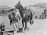 Alan Ladd Running Away From the Horse in Cowboy Outfit Photo by  Movie Star News