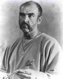 Sean Connery Holding Arrow Black and White Portrait Photo by  Movie Star News
