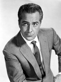 Rossano Brazzi Posed in Black Suit With White Background Photo by  Movie Star News
