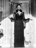 Lena Horne in Black Gown in Black and White Portrait Photo by  Movie Star News