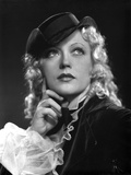 Marion Davies Thinking Pose in Black Suit with Hat Photo by  Movie Star News