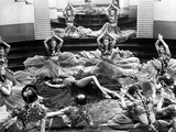 Marlene Dietrich Dancing in Ballet Outfit with Dancers Photo by ER Richee