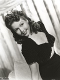 Ann Miller wearing a Black Dress in a Classic Portrait Photo by  Movie Star News