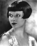 Louise Brooks Posed in Shinny Dress with Dark lipstick Photo by  Movie Star News