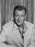 John Wayne wearing a White Suit with a Hawaiian Undershirt Photo by Bert Six