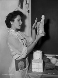 Elizabeth Taylor Posed in Baker Outfit Classic Portrait Photo by  Movie Star News