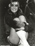 Heather Locklear sitting and hugging Her Legs Pose Photo by  Movie Star News