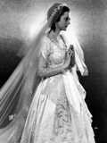 Heather Angel in an Embroidered Bridal Gown with Veil Photo by  Movie Star News