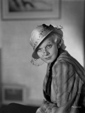 Jean Harlow Portrait in Hat and Long Sleeve Shirt Photo by CS Bull