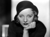 Talullah Bankhead on a Hat with Face Leaning on Hand Photo by  Movie Star News