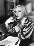 Marion Davies posed Bitting A Pen in Black and White Photo by  Movie Star News