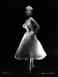 Gloria DeHaven posed in White Gown in Black and White Photo by  Movie Star News