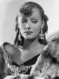 Greta Garbo wearing Fur Coat with Huge Earrings Portrait Photo by  Hurrell