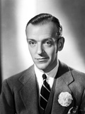 Fred Astaire Posed in Classic Black and White Portrait Photo by E Bachrach