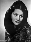 Margaret Lockwood Looking Away in Floral Dress with Veil Photo by  Movie Star News