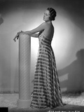 Mary Astor on a Stripe Dress Backless posed Portrait Photo by  Movie Star News