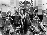 Marlene Dietrich Dancing in Sexy Dress with Dancers Photo by ER Richee