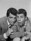 Dean Martin and Jerry Lewis Wacky Pose in Black and White Photo by  Movie Star News