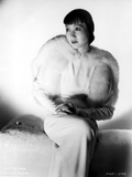 Anna Wong sitting on the Couch with a Furry Blazer Photo by  Movie Star News