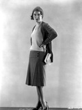 Fay Wray standing in Two Piece Dress in Black Pumps Photo by  Movie Star News