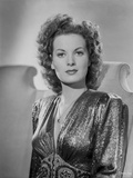 Maureen O'Hara in Black Gown Portrait wearing Shiny Blouse Photo by E Bachrach