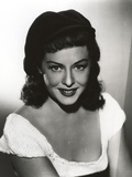 Paulette Goddard smiling wearing White Dress Portrait Photo by  Movie Star News