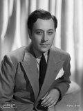 George Raft wearing Coat with Necktie Black and White Photo by ER Richee