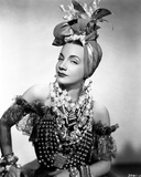 Carmen Miranda wearing a Beaded Dress with Necklaces Photo by  Movie Star News