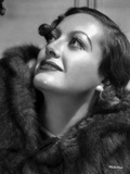 Joan Crawford wearing a Fur Coat in a Classic Portrait Photo by CS Bull