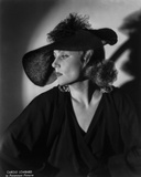 Gina Lollobrigida Side View in Black Gown with Black Hat Photo by  Movie Star News