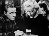 Marlon Brando Talking to a Girl in Black and White Photo by  Movie Star News