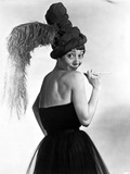 Imogene Coca wearing a Black Dress with Head Dress Photo by  Movie Star News
