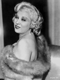 Mae West Posed Sideways in Fur Coat with a Little Smile Photo by  Movie Star News