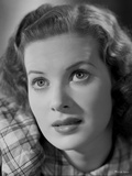 Maureen O'Hara Close Up Portrait wearing Plaid Dress Photo by E Bachrach