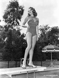 Rita Hayworth Posed on Diving Board in Swimming Suit Photo by  Movie Star News