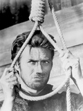 Clint Eastwood Holding Knotted Rope in Classic Portrait Photo af  Movie Star News