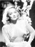 Marlene Dietrich Posed in Elegant Dress with Short Hair Photo by  Movie Star News