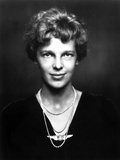Amelia Earhart on Top Dark with Necklace Portrait Photo by  Movie Star News