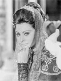 Sophia Loren wearing a Detailed Dress in a Portrait Photo by  Movie Star News