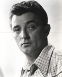 Robert Mitchum Posed with a Straight Face in Striped Shirt Photo by  Movie Star News