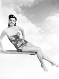 Esther Williams on Swimsuit Posed on Diving Board Photo by  Movie Star News