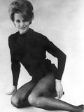 Angie Dickinson Posed in Black Sweater Black and White Photo by  Movie Star News