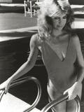 Heather Locklear in Bikini Holding on a Pool Railings Photo by  Movie Star News